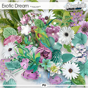 Exotic Dream (full kit) by Simplette | Oscraps