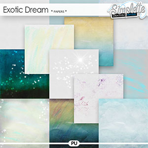 Exotic Dream (papers) by Simplette | Oscraps