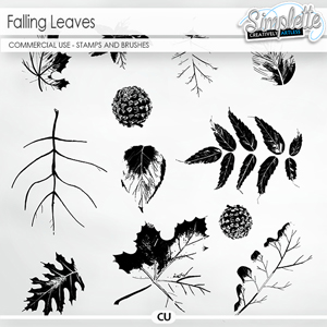 Falling Leaves (CU stamps and brushes) by Simplette | Oscraps