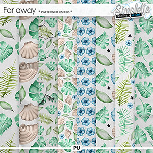 Far Away (patterned papers)