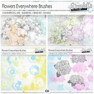 Flowers Everywhere - BUNDLE (CU brushes)