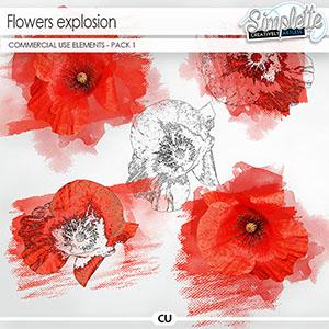 Flowers Explosion - pack 1 (CU elements)