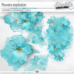 Flowers Explosion - pack 3 (CU elements)
