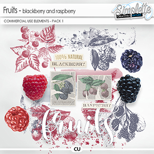 Fruits (CU elements) by Simplette - pack 1