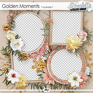 Golden Moments (clusters) by Simplette