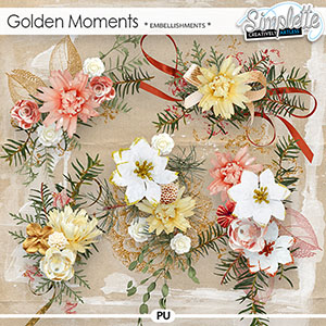 Golden Moments (embellishments) by Simplette
