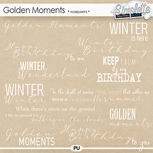 Golden Moments (wordarts) by Simplette