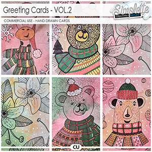 Greeting Cards (CU hand drawn cards) by Simplette - VOL2
