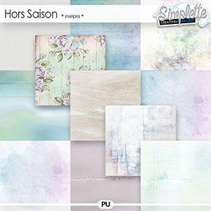 Hors Saison (papers) by Simplette   Oscraps