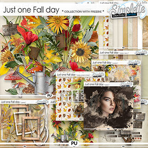 Just one Fall day (collection with free pack offered) by Simplette   Oscraps