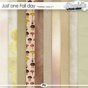 Just one Fall day (papers) pack 2 by Simplette | Oscraps