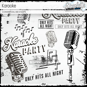Karaoke (CU stamps) by Simplette | Oscraps