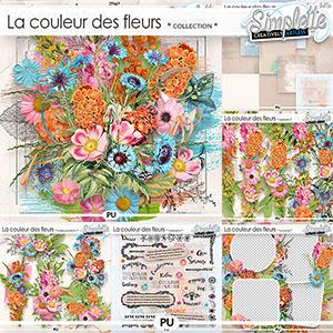 La couleur des Fleurs (collection) by Simplette | Oscraps