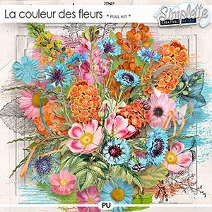 La couleur des Fleurs (full kit) by Simplette | Oscraps