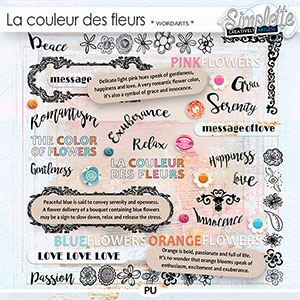 La couleur des Fleurs (wordarts) by Simplette | Oscraps