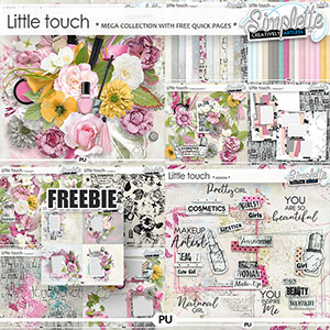 Little Touch (MEGA collection with FREE pack OFFERED) by Simplette | Oscraps