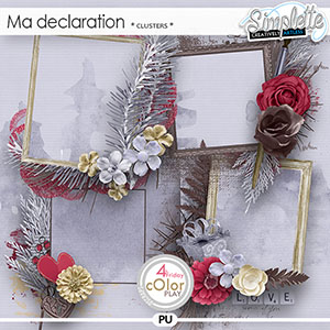Ma Declaration (clusters) by Simplette