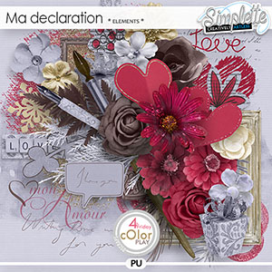 Ma Declaration (elements) by Simplette