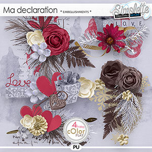 Ma Declaration (embellishments) by Simplette