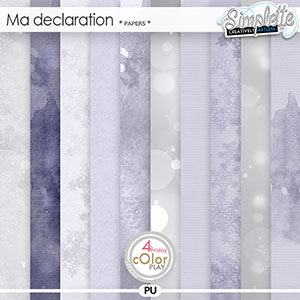 Ma Declaration (papers) by Simplette