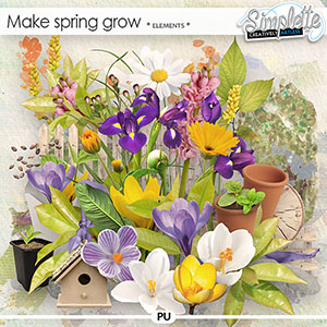Make Spring grow (elements) by Simplette