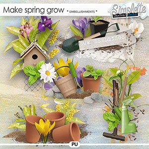 Make Spring grow (embellishments) by Simplette
