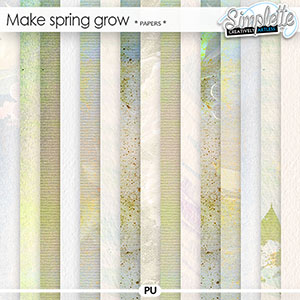 Make Spring grow (papers) by Simplette