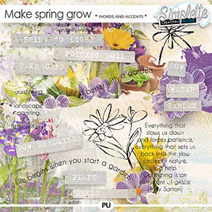 Make Spring grow (wordarts and accents) by Simplette