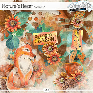 Nature's Heart (accents) by Simplette   Oscraps