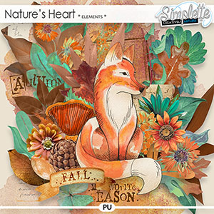 Nature's Heart (elements) by Simplette | Oscraps