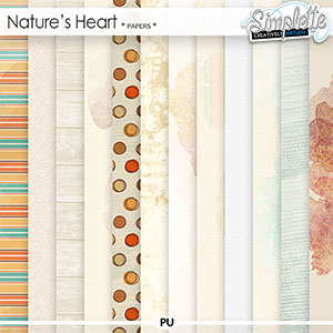 Nature's Heart (papers) by Simplette   Oscraps