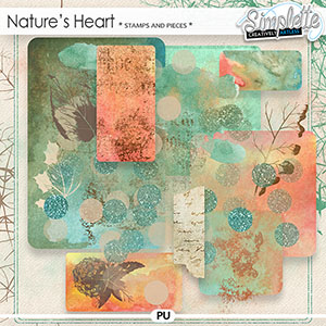 Nature's Heart (stamps and pieces) by Simplette   Oscraps