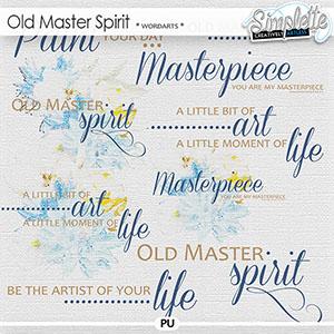 Old Master Spirit (wordarts)