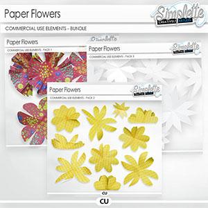 Paper Flowers (CU elements) BUNDLE