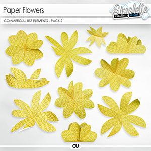 Paper Flowers (CU elements) pack 2