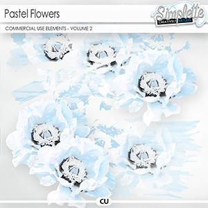 Pastel Flowers (CU elements) - volume 2