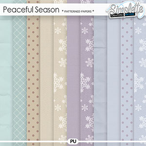 Peaceful Season (patterned papers) by Simplette