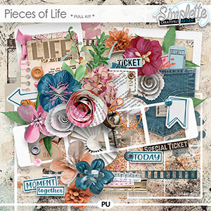 Pieces of Life (full kit) by Simplette | Oscraps