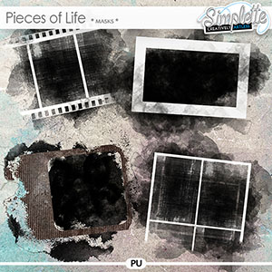 Pieces of Life (masks) by Simplette   Oscraps