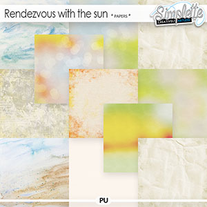 Rendezvous with the sun (papers) by Simplette
