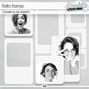 Retro Frames (CU elements) by Simplette | Oscraps