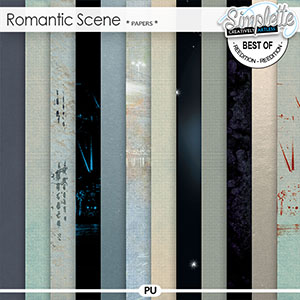 Romantic Scene (papers) by Simplette