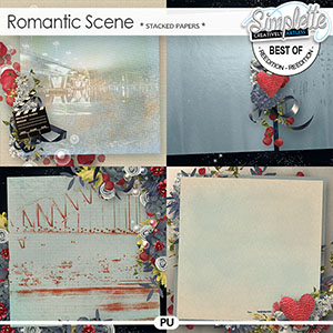 Romantic Scene (stacked papers) by Simplette
