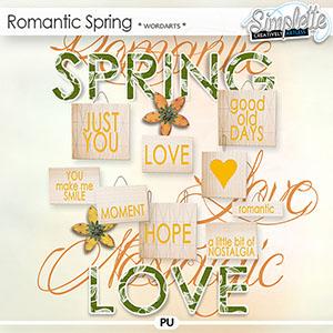 Romantic Spring (wordarts)