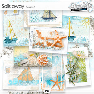 Sails away (cards) by Simplette