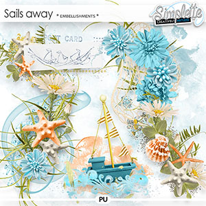 Sails away (embellishments) by Simplette