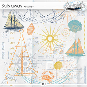 Sails away (stamps) by Simplette