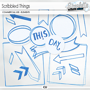 Scribbled Things (CU elements) by Simplette