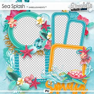 Sea Splash (clusters) by Simplette | Oscraps