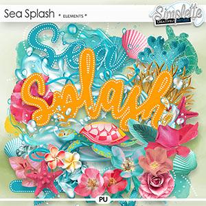Sea Splash (elements) by Simplette | Oscraps